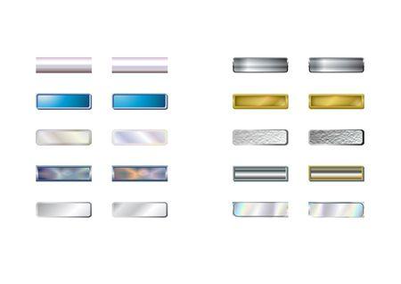 3d web boutons-overs et de la souris avec les chemins de d�tourage. Digital illustration. Les d�grad�s, les m�langes. Banque d'images