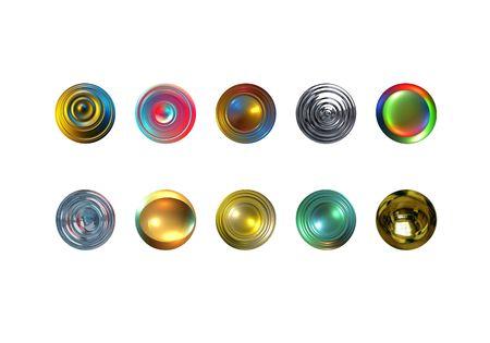 Web 3D boutons avec d�tourage. Digital illustration.