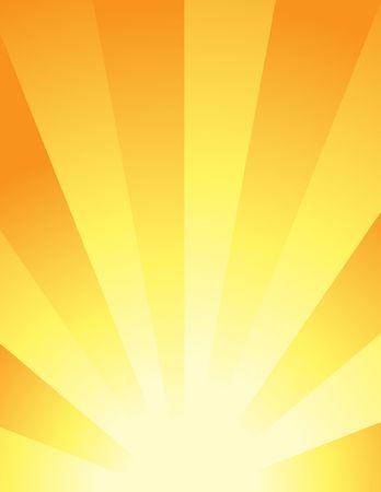 Abstract illustration: Shining Sun Stock Photo