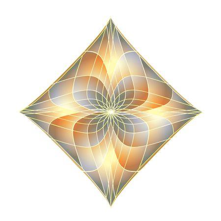 fractals: Bright diamond. Fractals. Digital illustration.