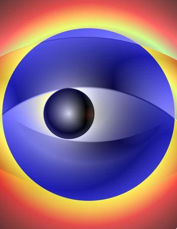 allegoric: Abstract 3-d digital illustration. Allegoric Blurry Eye.