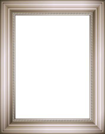Silver frame. Digital illustration � partir de z�ro. Blends, gradient mesh. Contient le chemin de d�tourage. Banque d'images