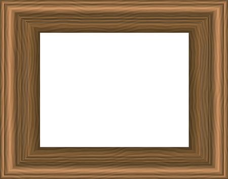 Wooden frame. Digital illustration. Contains clipping path. Stock Illustration - 524489