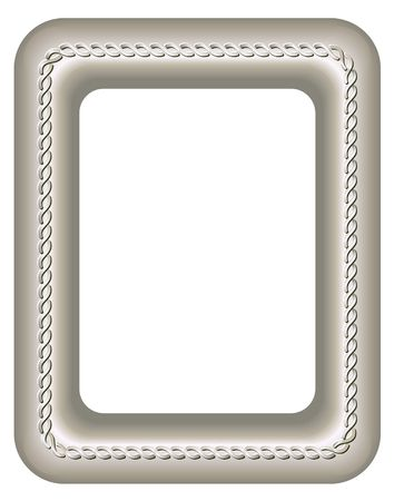 silver frame: Silver frame. Digital illustration from scratch. Blends, gradient mesh. Contains clipping path. Stock Photo