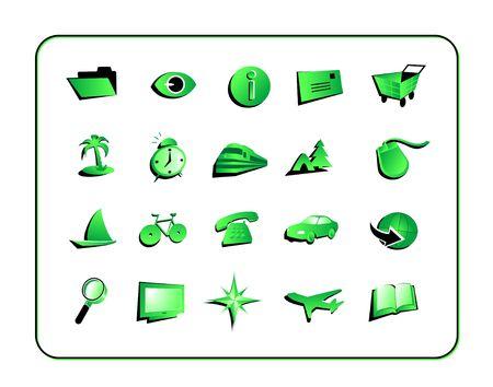 Illustration r�gl�e de Digital dic�ne verte. Contient des chemins de coupure.
