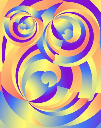 fractals: Abstract Radial Fractals. Bright digital illustration Stock Photo