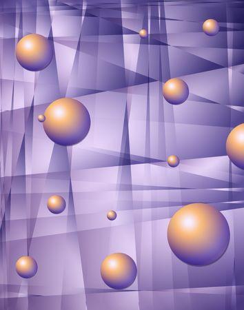 Purple fractals. Digital illustration. Abstract. Multiple techniques. Stock Illustration - 568009