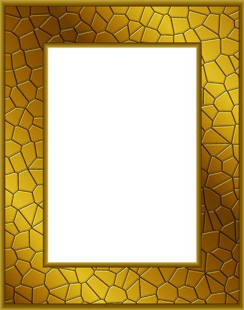 Golden frame with clipping path. Digital illistration. Gradient mesh. Stock Photo - 580336