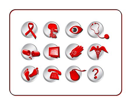 Medical Icon Set. Digital illustration. Contains clipping path. illustration