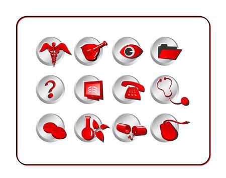 pharmacy icon: Medizin & Pharmazie Icon-Set. Digital Illustration. Enth�lt Clipping-Pfad.