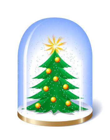 Christmas Snow Globe. Digital illustration. Blends. illustration