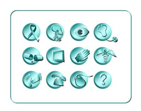 Illustration r�gl�e m�dicale et de pharmacie dic�ne de Digital. Contient le chemin de coupure. Banque d'images