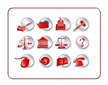 Juridique jeu d'ic�nes. Illustration num�rique, cr��e � partir de z�ro.  Banque d'images