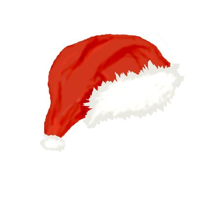 computer generated illustration of  cap of  Santa illustration