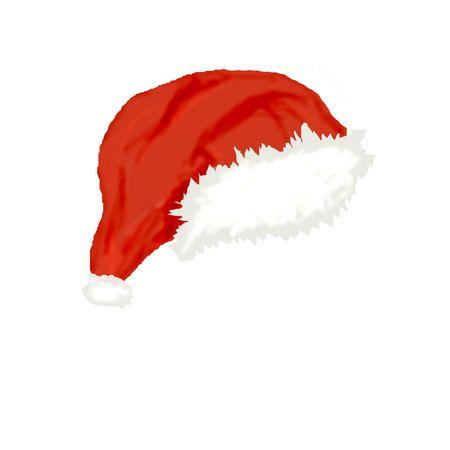 santaclause hat: computer generated illustration of  cap of  Santa