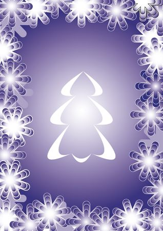 computer generated  illustration of Christmas tree illustration
