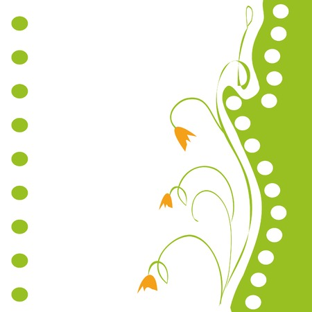 vector floral blank with green and white spots Vector