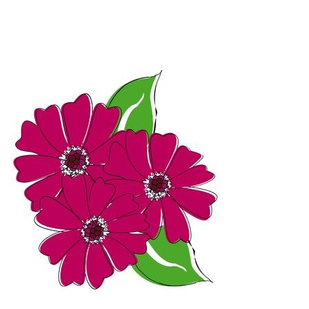 crimson: vector three crimson flowers for your design