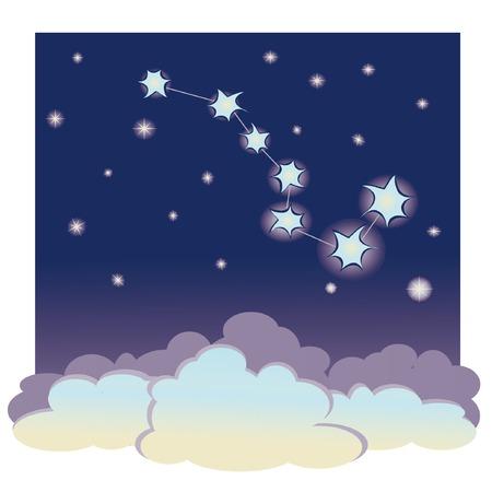vector cartoon illustration of constellation  Vector