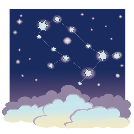 vector cartoon illustration of constellation  Vector