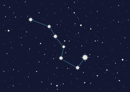 vector illustration of constellation