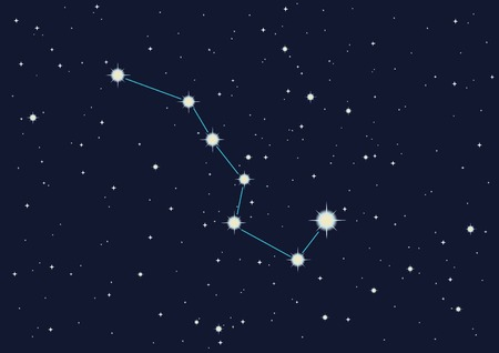vector illustration of constellation  Stock Vector - 3409858