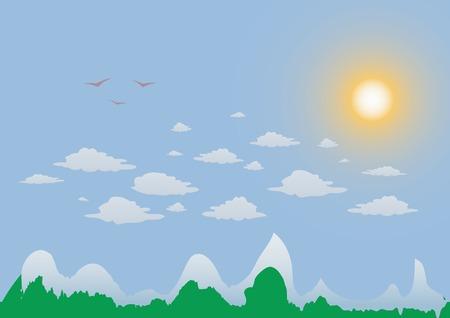 slush: vector illustration of mountain  landscape Illustration