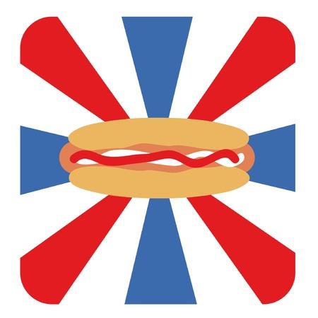 vector illustration for national hotdogs day Vector