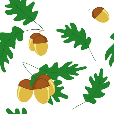 vector seamless pattern with acorns  Vector