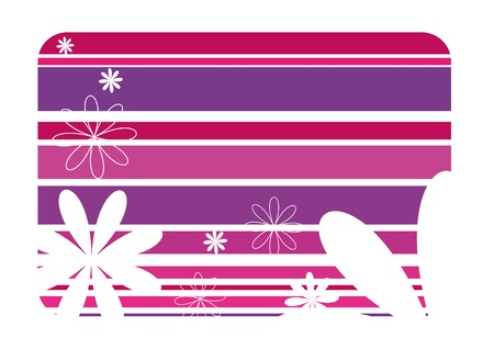 striped background with white flower Stock Vector - 3490685