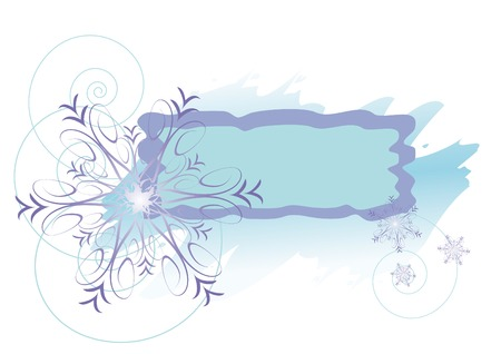 winter frame with violet snowflakes Stock Vector - 3674025
