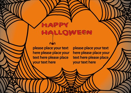happy halloween: Halloween background with spiders web 3. You can find similar images in my gallery!