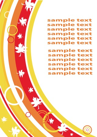 Autumnal blank with maple leaves. You can put in your text. Please see similar images in my gallery! Vector