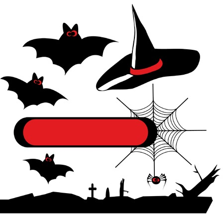 Halloween set of vector silhouettes 2. You can find similar images in my gallery!   Illustration