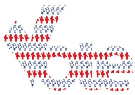 People vote. Presidential election 3.  You can find similar images in my gallery! Illustration