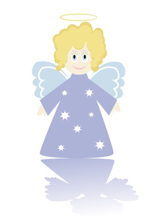 Cartoon figure of little angel. You can find similar images in my gallery!