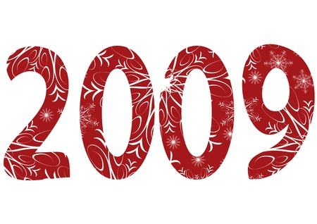 New Year background with number. You can find similar images in my gallery! Illustration