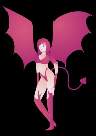 illustration she-devil Stock Vector - 3697202
