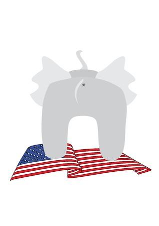 illustration with elephants bottom Vector