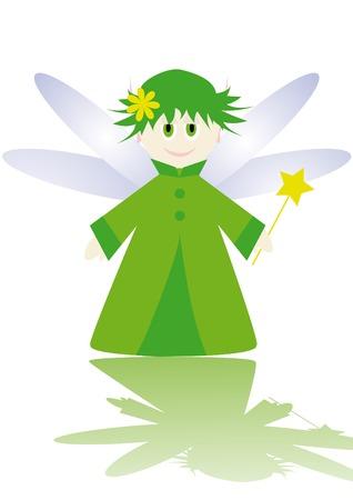 Cartoon figure of little fairy. Stock Vector - 3697199