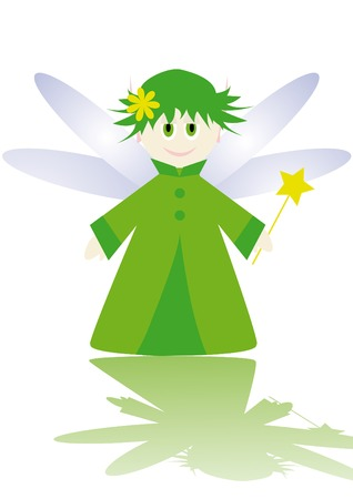 Cartoon figure of little fairy. Vector