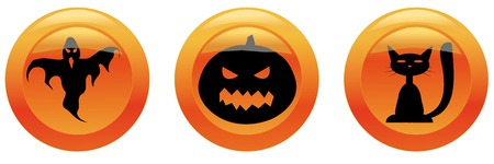 Halloween icons 2 (�at, pumpkin ,ghost) Vector