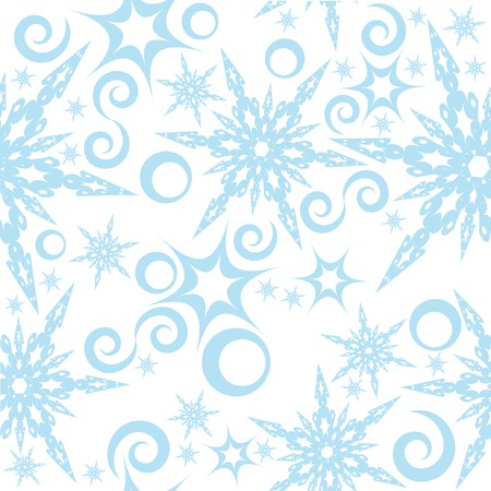 Seamless pattern with snowflakes 2. You can find similar images in my gallery! Stock Vector - 3697209