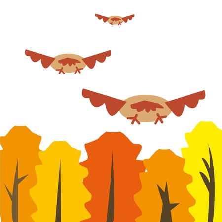 migrant: Illustration of migrant birds