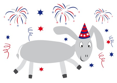 Illustration of happy donkey. You can find similar images in my gallery! Illustration