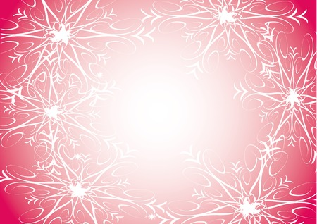 Snowflakes on pink background Vector
