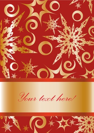 put: Christmas frame with  snowflakes. You can put in your text.  Illustration