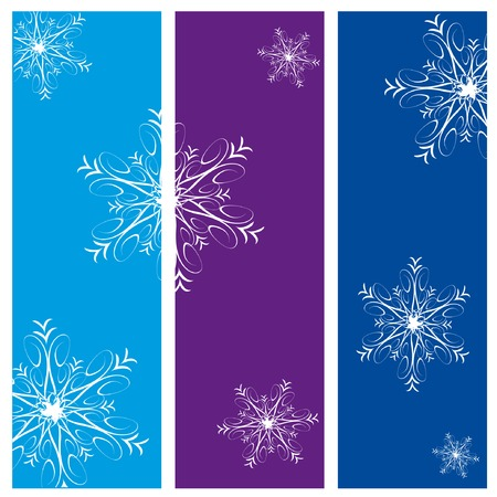 Three christmas vertical banners with snowflakes Stock Vector - 3768411