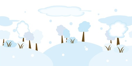 Seamless illustration of snowy landscape Stock Vector - 3768417