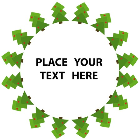 Frame with abstract green christmas tree 2. You can put in your text. Stock Vector - 3768409